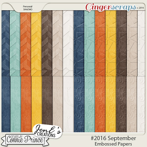 #2016 September - Embossed Papers