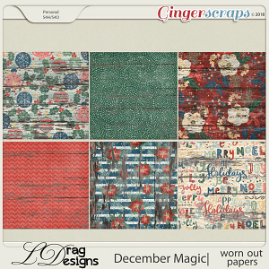 December Magic: Worn Out Papers by LDragDesigns