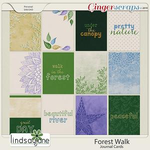 Forest Walk Journal Cards by Lindsay Jane