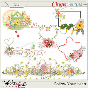 Follow Your Heart Clusters 1 by Snickerdoodle Designs