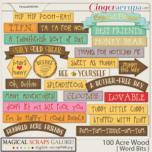 100 Acre Wood (word bits)