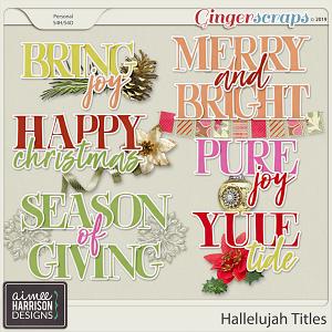 Hallelujah Titles by Aimee Harrison