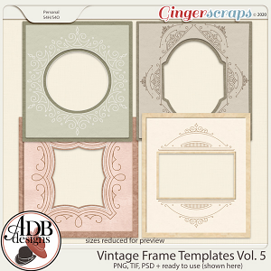 Heritage Resource - Vintage Frame Templates Vol. 05 by ADB Designs
