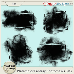 Watercolor fantasy Photomasks Set2