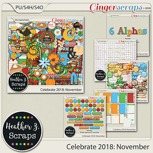 Celebrate 2018: November BUNDLE by Heather Z Scraps
