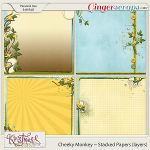 Cheeky Monkey Stacked Papers (layers)