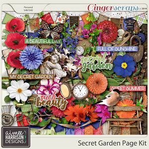 Secret Garden Page Kit by Aimee Harrison