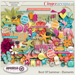 Best Of Summer - Elements by Aprilisa Designs