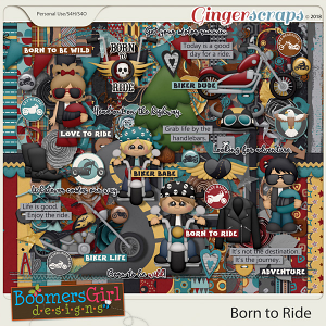 Born to Ride by BoomersGirl Designs