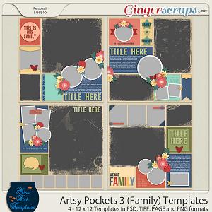 Artsy Pockets 3 (Family) Templates by Miss Fish