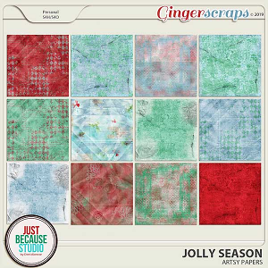 Jolly Season Artsy Papers by JB Studio