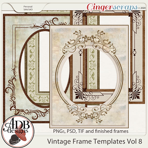Heritage Resource - Vintage Frame Templates Vol 08 by ADB Designs