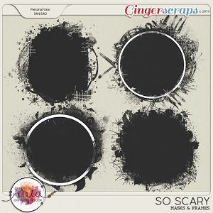 So Scary - Masks & Frames - by Neia Scraps
