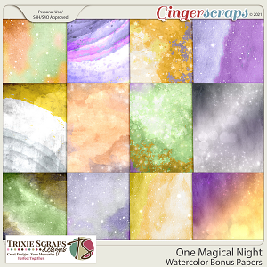 One Magical Night Bonus Papers by Trixie Scraps Designs