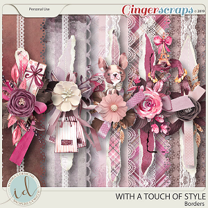 With A Touch Of Style Borders by Ilonka's Designs