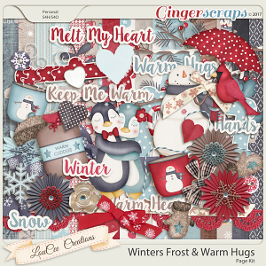 Winter's Frost and Warm Hugs Page Kit