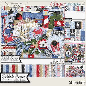 Shoreline Digital Scrapbooking Bundle
