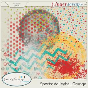 Sports: Volleyball Grunge