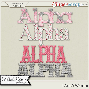 I Am A Warrior Alphabets