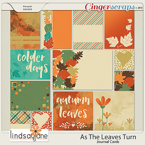 As The Leaves Turn Journal Cards by Lindsay Jane