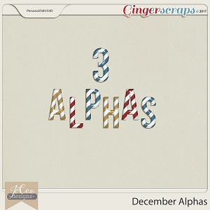 December Alpha by JoCee Designs