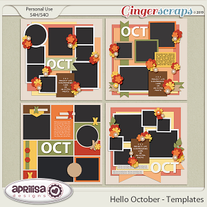 Hello October - Template Pack