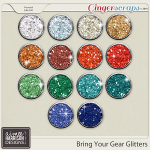 Bring Your Gear Glitters by Aimee Harrison