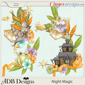 Night Magic Clusters Set 2 by ADB Designs