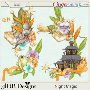Night Magic Clusters Set 2 by ADB Designs