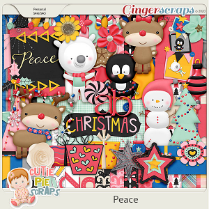 Peace - Christmas - Digital Scrapbooking Kit
