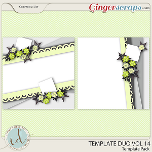 Template Duo Vol 14 by Ilonka's Designs