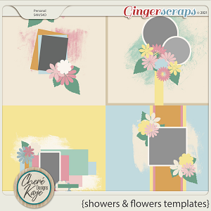 Showers and Flowers Templates by Chere Kaye Designs