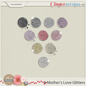 A Mother's Love Glitters by JoCee Designs