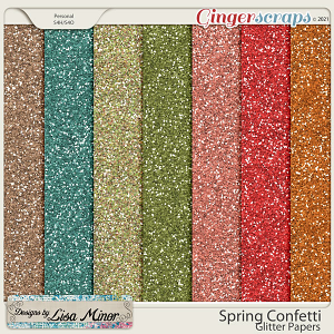 Spring Confetti Glitter Papers from Designs by Lisa Minor