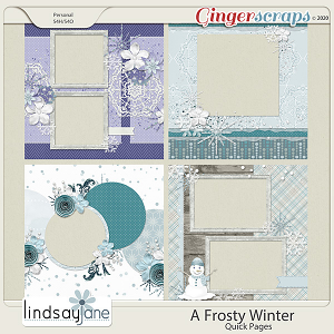 A Frosty Winter Quick Pages by Lindsay Jane