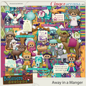 Away in a Manger by BoomersGirl Designs