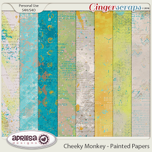 Cheeky Monkey - Painted Papers by Aprilisa Designs