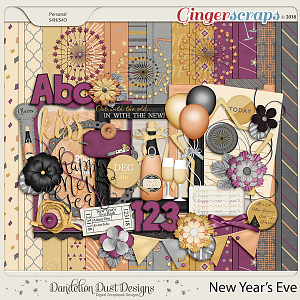 New Year's Eve Digital Scrapbook Kit by Dandelion Dust Designs