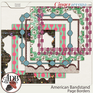 American Bandstand Page Borders by ADB Designs