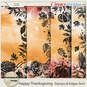 Happy Thanksgiving Stamps & Edges Set2
