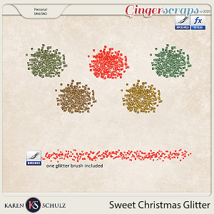 Sweet Christmas Glitter by Karen Schulz and Linda Cumberland Designs