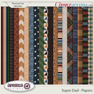Super Dad - Papers by Aprilisa Designs