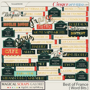 Best of France (word bits)