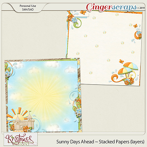 Sunny Days Ahead Stacked Papers (layers)