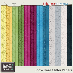 Snow Daze Glitter Papers by Aimee Harrison