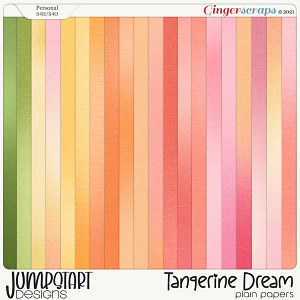 Tangerine Dream {Plain & Ombre Papers} by Jumpstart Designs