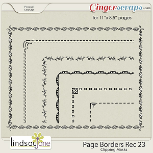 Page Borders Rec 23 by Lindsay Jane