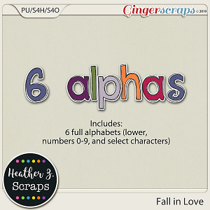 Fall in Love ALPHABETS by Heather Z Scraps