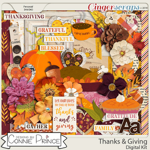 Thanks & Giving - Kit by Connie Prince