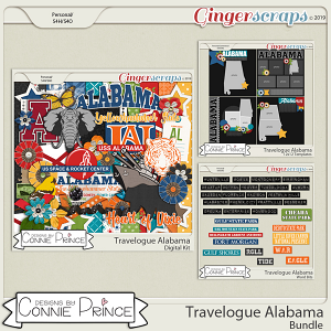 Travelogue Alabama - Bundle Pack by Connie Prince